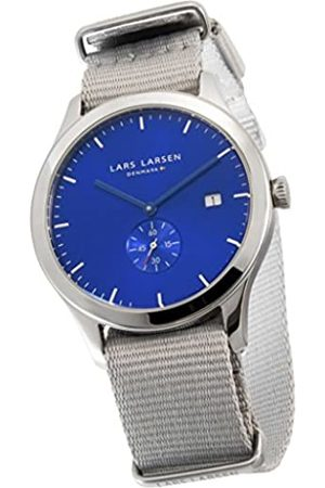 Lars Larsen LW29 Men's Quartz Watch with Dial Analogue Display and Fabric Strap 129SDMN