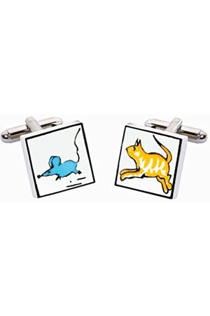 Sonia Spencer Sonia Spencer Cat and Mouse Bone China Cufflinks