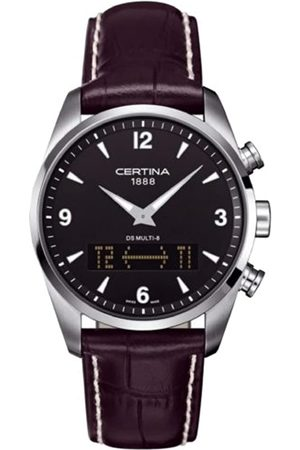 Certina Men's XL Analogue & Digital Quartz Watch with Leather Strap C020.419.16.057.00