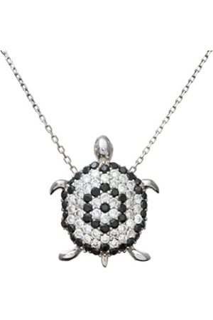 Citerna Sterling and Cubic Zirconia Turtle Pendant and 42 cm Chain