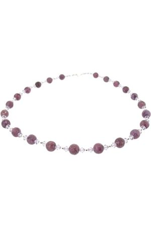 Earth Lepidolite and Swarovski Crystal Beaded Necklace at 45cm in Length
