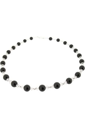 Earth Onyx and Swarovski Crystal Beaded Necklace at 45cm in Length