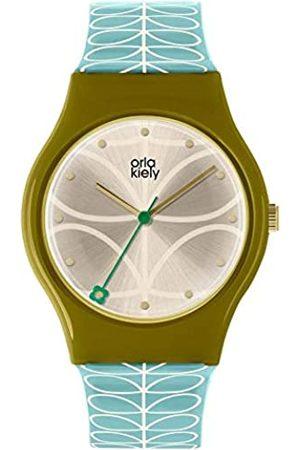 Orla Kiely Unisex Adult Analogue Classic Quartz Watch with Leather Strap OK2226