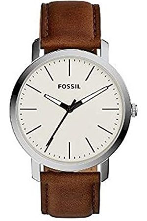 Fossil Mens Analogue Quartz Watch with Leather Strap 4053858961906