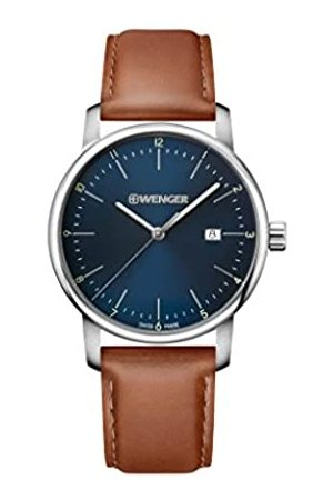 Wenger Unisex Analogue Quartz Watch with Leather Strap Urban Classic NO.: 01.1741.111