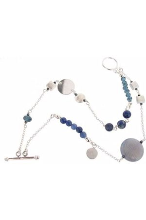 Earth Sterling 20cm Double Row Bracelet with Sodalite Beads
