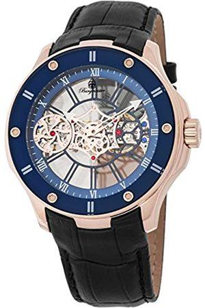 Burgmeister Men's Analog Mechanical-Hand-Wind Watch with Leather Calfskin Strap BM236-302