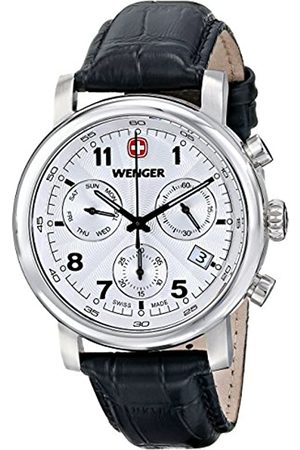 Wenger Urban Classic Chrono Men's Quartz Watch with Dial Analogue Display and Leather Strap 011043105