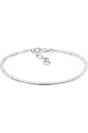 Elli Women Circle Geo Minimal Basic Beads 925 Sterling Bracelet of Length 16cm