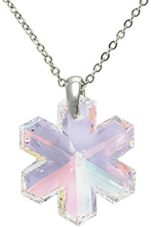 Cristalina Snowflake Crystal Pendant & Chain of 46cm with 4cm Extender