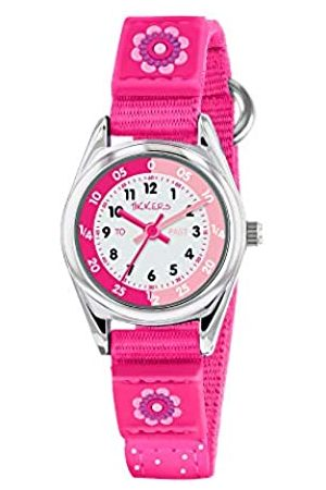 Tikkers Girls' Analogue Quartz Watch with Fabric and Canvas Strap – TK0119
