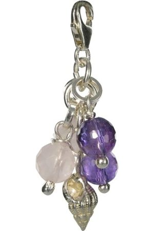 Jane Davis AmethystQuartz and Shell CharmSterling SilverModel CHM009by