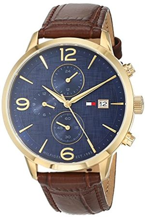 Tommy Hilfiger Mens Multi dial Quartz Watch with Leather Strap 1710359