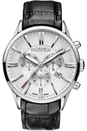 Roamer Superior Men's Quartz Watch with Dial Chronograph Display and Leather Strap