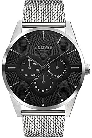 s.Oliver Unisex Adult Multi dial Quartz Watch with Stainless Steel Strap SO-3574-MM