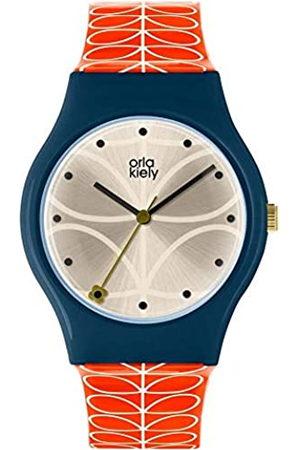 Orla Kiely Unisex Adult Analogue Classic Quartz Watch with Leather Strap OK2228