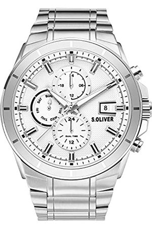 s.Oliver Mens Multi dial Quartz Watch with Stainless Steel Strap SO-3758-MM