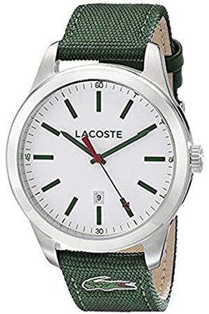 Lacoste 2010777 - Men's Auckland Quartz Analogue Watch with a Green Watch Face and Strap