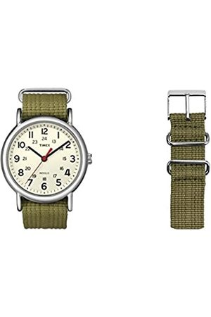 Timex Unisex Special Weekender Slip Through Quartz with Off- Dial Analogue Display and Nylon Slip Strap