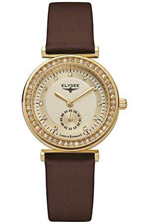 ELYSEE Unisex Adult Analogue Quartz Watch with Leather Strap 44007