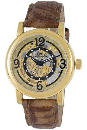 Carlo Monti Ladies Automatic Watch with Dial Analogue Display and Leather Strap CM120-200