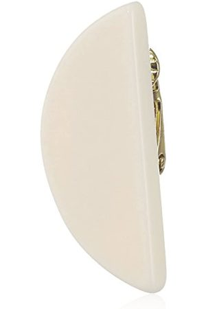 may mOma Women's Cream Fan Piercing Mono Earrings