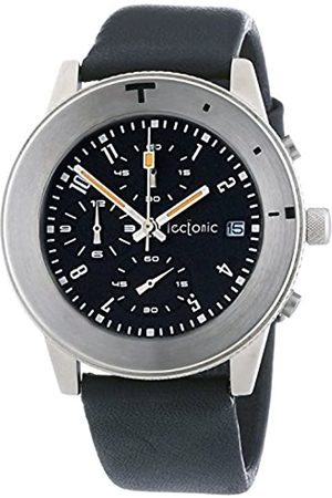 Tectonic Men's Quartz Watch with Dial Chronograph Display and Leather Strap 41-6902-44