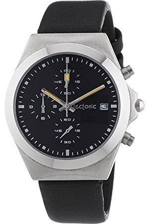Tectonic Unisex Quartz Wristwatch with Dial Analogue Display and Leather Strap 41-6905-44