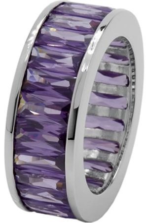 Carlo Monti Women's Ring 925 Sterling Silver Rhodium-Plated Cubic Zirconia Baguette JCM 104–121 17mm