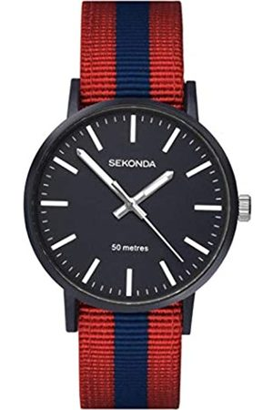 Sekonda Mens Analogue Classic Quartz Watch with Nylon Strap 1582.27