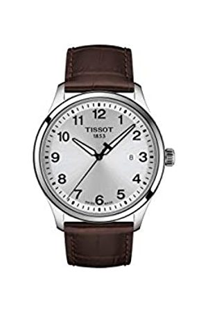 Tissot Mens Analogue Quartz Watch with Leather Strap T1164101604700