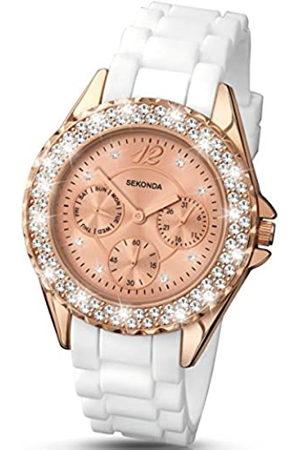 Sekonda Womens Analogue Classic Quartz Watch with Silicone Strap 4663