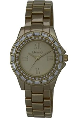 Henley Ladies Yellow Diamante Fashion Women's Quartz Watch with Dial Analogue Display and Rose Plated Stainless Steel Bracelet H07224.2