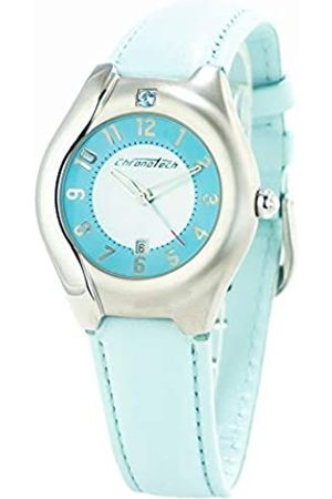 Chronotech Womens Analogue Quartz Watch with Leather Strap CT2206L-12