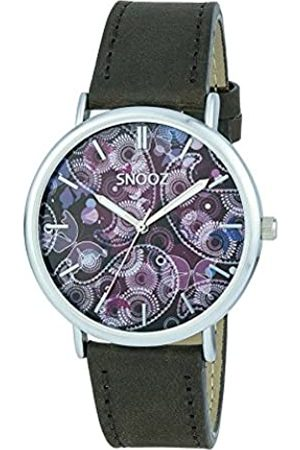 Snooz Men's Analogue Quartz Watch with Leather Strap Saa1041-79