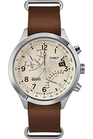 Timex Mens Analogue Classic Quartz Connected Wrist Watch with Leather Strap TW2R55100
