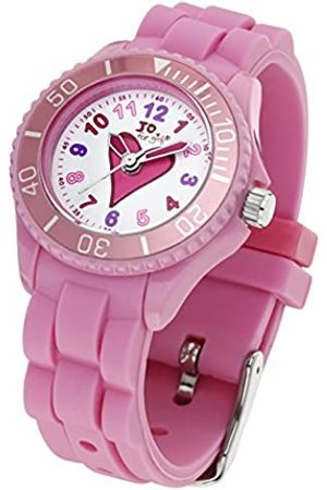 Jo Heart Quartz Watch for Girl's 50m Water Resistant with Watermelon Silicone Strap