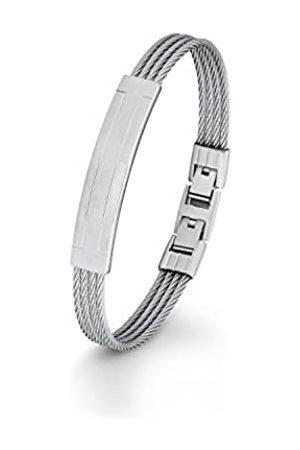 s.Oliver S. Oliver Mens Stainless Steel 21.5 cm – Bracelet Adjustable Snap Closure 566445