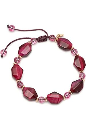 Lola Rose Mystique Fuchsia Tigers Eye Burgundy Rock Crystal Bracelet