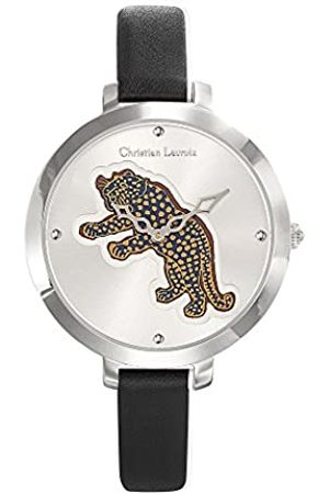 Christian Lacroix Womens Analogue Quartz Watch with Leather Strap CLWE04