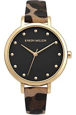 Karen Millen Women's Analogue Quartz Watch with PU Strap KM189TG