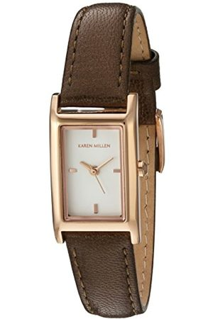 Karen Millen Women's Quartz Watch with Dial Analogue Display and Leather Strap KM114TRG