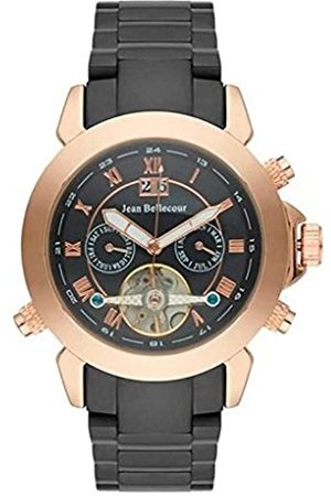 Jean Bellecour Men's Analogue Classic Quartz Watch with Stainless Steel Strap REDS7