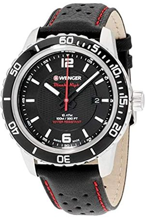 Wenger Men's Analogue Quartz Watch with Leather Strap 01.0851.120