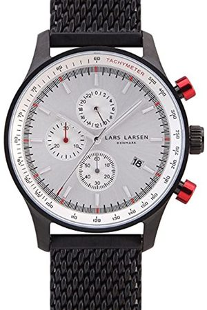 Lars Larsen Men's Quartz Watch with Dial Analogue Display and Stainless Steel Strap 133CWCM