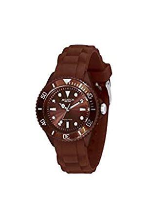 Madison Men's Analogue Classic Quartz Watch with Rubber Strap L4167-19
