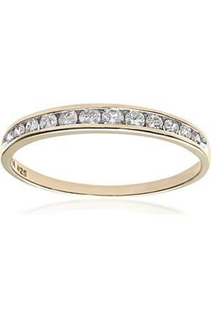 Naava Women's 9 ct 0.25 ct Diamond Channel Set Half Eternity Ring