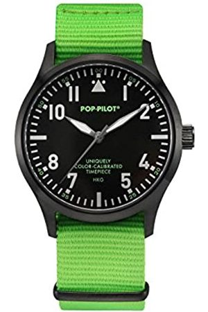 Pop-Pilot Unisex HKG Quartz Watch with Dial Analogue Display and Nylon Strap
