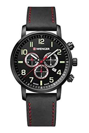 Wenger Unisex Chronograph Quartz Watch with Leather Strap 01.1543.104