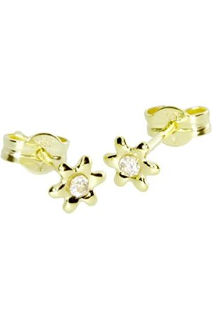 InCollections 0010160079401 Cubic Zirconia 8ct Yellow Gold Stud Earrings